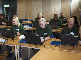 Eesti staabiassistendid Rootsis väljaõppel - IntSAC III-2008