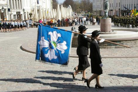 Pühitseti Naiskodukaitse Tartu ringkonna lipp