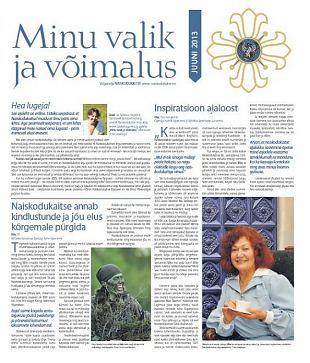 """Võidupüha lugemisvara: Naiskodukaitse ajaleht """"Minu valik ja võimalus"""""""