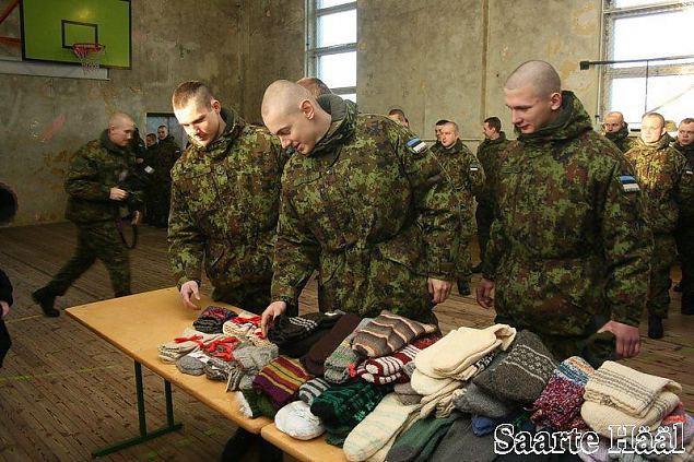 Sõdurpoisid on saanud juba 767 paari sokke