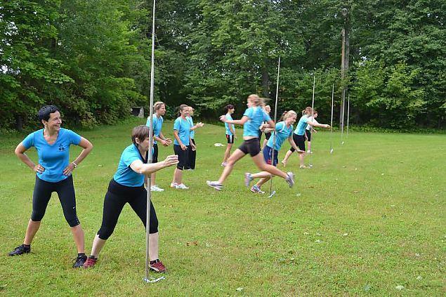 Naiskodukaitsjad veedavad Võrumaal sportliku nädalavahetuse