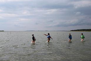 Jalgsi läbi vee Kaevatsi laiule