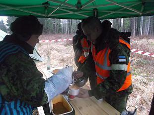 Saaremaa naiskodukaitsjad osalesid Orkaanil