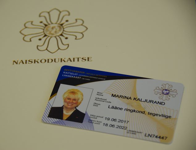 Marina Kaljurand liitus Naiskodukaitsega
