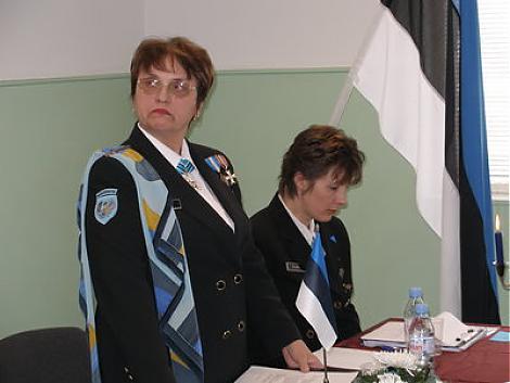 Saaremaa Aasta Naine 2005 on Naiskodukaitse liige Ellen Kask