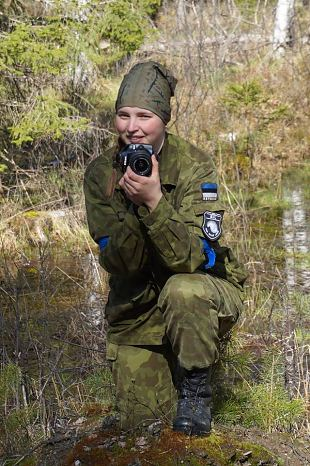 Naiskodukaitsja Karoline Malk on mereväe ainus naisajateenija